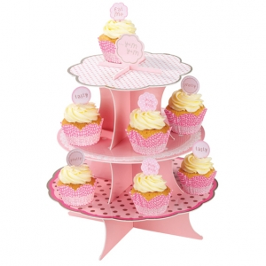 Cupcake-Etagere aus Papier Prinzessin Party
