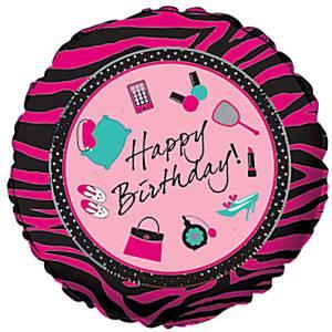 Folienballoon-Mädchen-Beauty-Party-Kindergeburtstag