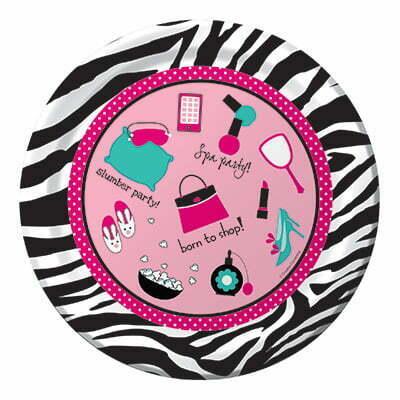 Papierteller Beautyparty Mädchengeburtstag