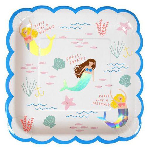 papierteller-meerjungfrau-kinderparty