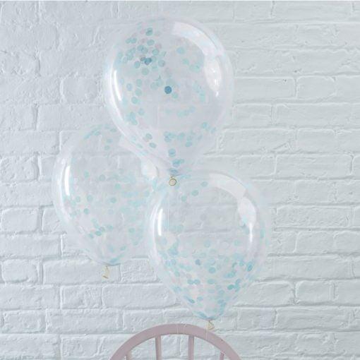 Blau konfetti ballons meerjungfrau party
