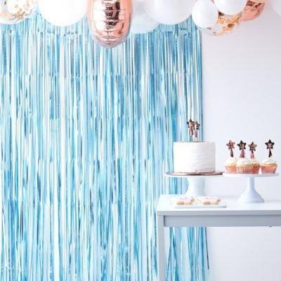 Partyvorhang blau meerjungfrau kinderparty