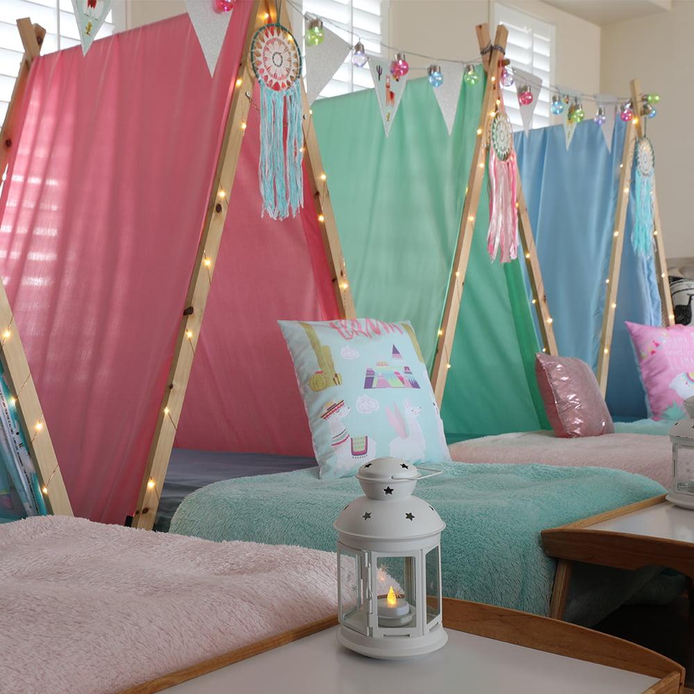 Übernachtungsparty pyjamaparty mädchengeburtstag